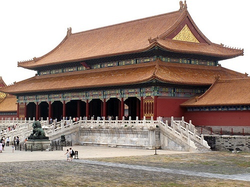 The Gate of Supreme Harmony at the Forbidden City in Beijing, China