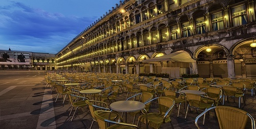 St Marks Square, Venice, early in the morning