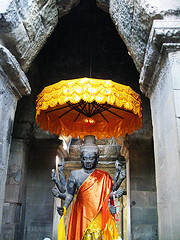 A shrine at Angkor Wat in Cambodia