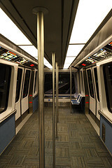 Air Train from John F Kennedy Airport to Jamaica Station in New York City