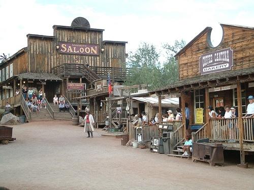 Town main street at Superstition Mountain Museum, Arizona
