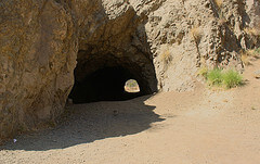 The Bronson Caves entrance in Griffith Park