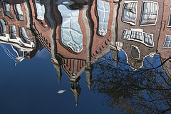 Reflection in a canal in Jordaan, Amsterdam