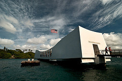 The USS Arizona Memorial in Oahu, Hawaii