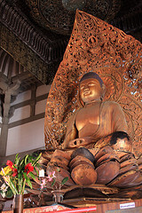 Buddha in the Byodo-in Temple