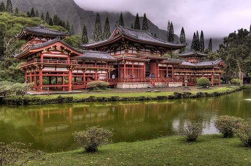 The Byodo-in Temple in Hawaii