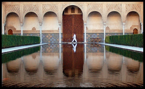 Reflecting pool at Alhambra Palace