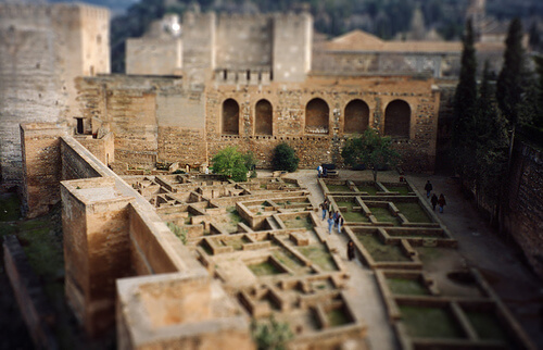 The interior of Alhambra Palace from above