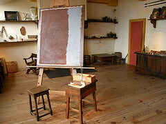 Inside the studio at Rembrandt House Museum