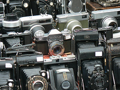 Old cameras on Portobello Road