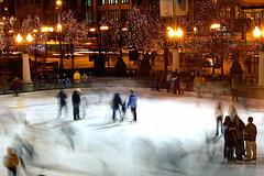 Ice rink in Chicago