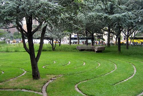 Labyrinth in Battery Park, New York City