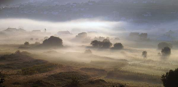 Early morning mist in Galicia