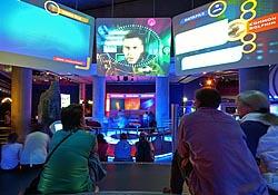 An interactive exhibit at The Deep aquarium