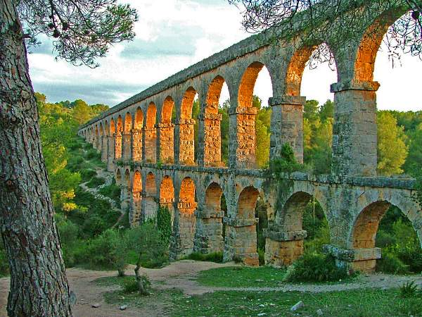 The Roman aqueduct in Tarragona, known as Devil's Bridge