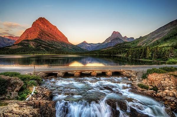 Glacier National Park at sunrise
