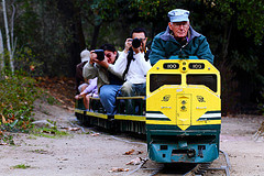 The scaled down train in Descanso Gardens