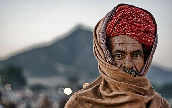 Pushkar Camel Fair trader portrait