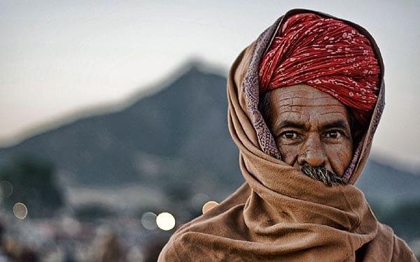 Pushkar Camel Fair trader portrait