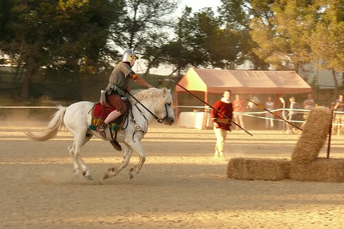 Martial prowess display at Roman re-enactment in Tarragona