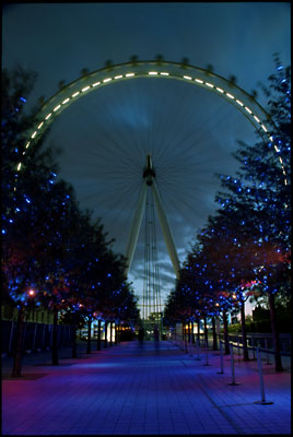 The London Eye. Night shot.