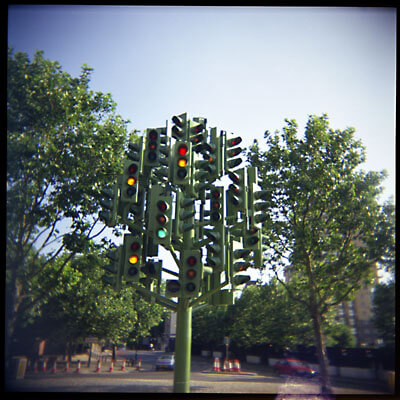 The confusing traffic light in London Docklands.