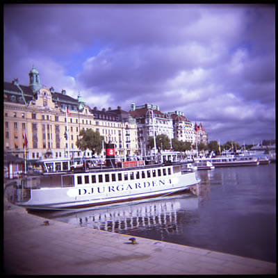 A ferry in Stockholm.