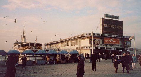 The ferry landing in Kadikoy, Istanbul.
