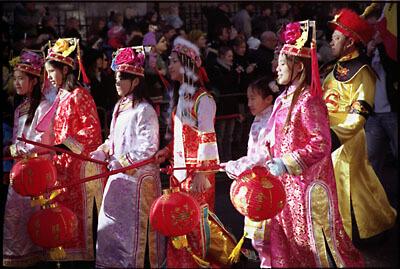 Participants in the 2006 Chinese New Year's Parade. London.