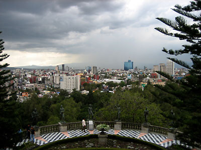 Looking out over Mexico City from Castillo Chapultepec.