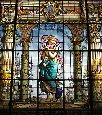 A beautiful stained glass window.