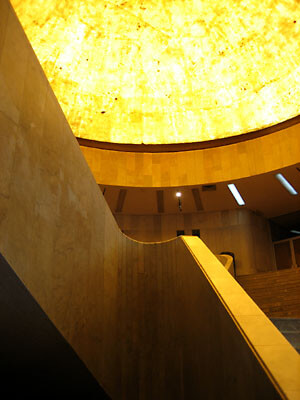 The fantastic staircase and cupola in Museo de Arte Moderno.