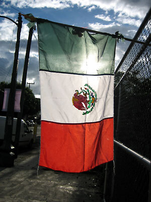 Mexican flag.