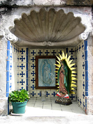 A small shrine at Cathedral de Cuernavaca, Mexico.