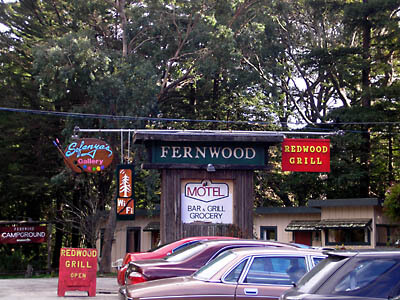 The Fernwood Resort in Big Sur, California. We stayed here for a couple of days during our wedding.