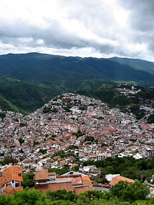 View over Taxco, Mexico, from the Christ statue.