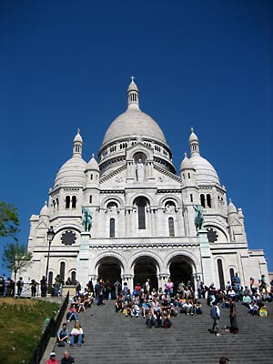 The Sacre Couer church in Paris.