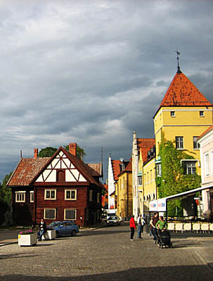 This is the old city center of Visby, Sweden.