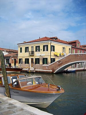 One of the beautiful canals in Murano, Venice.