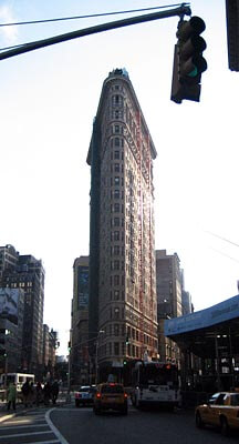 The Flatiron Building in New York.