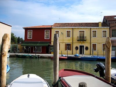 Across the canal in Murano, Venice, Italy