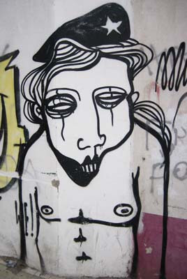 Graffiti on a hoarding in Santa Cruz de Tenerife.