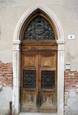 A stunning doorway in Venice, Italy.