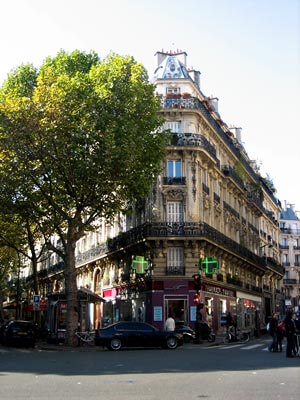 The corner of Avenue Trudaine, in the Montmartre district of Paris.