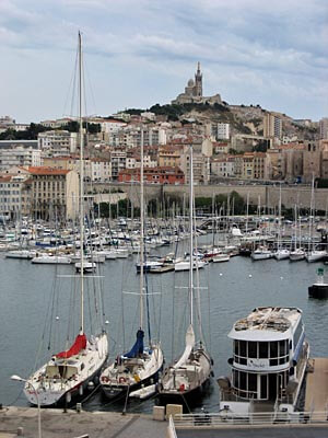 The Old Port, Port Vieux, in Marseille, France