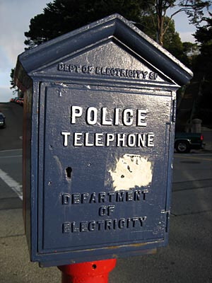 The old police telephone boxes are still around in San Francisco. This one I found on Russian Hill.