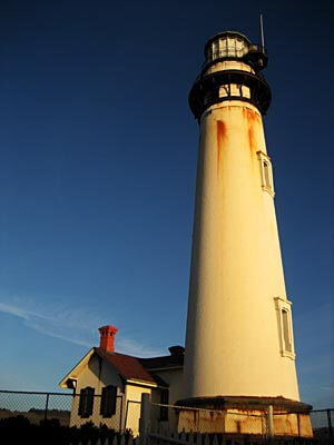 The beautiful Pigeon Point Lighthouse near Santa Cruz in California