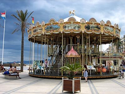 A very pretty carousel in Canet-Plage on the French Mediterranean