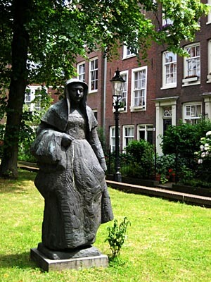 This statue sits in an hidden courtyard in central Amsterdam.