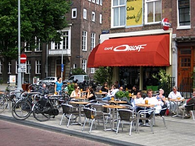 Cafe life in Amsterdam, Netherlands